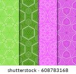 set of seamless pattern.... | Shutterstock .eps vector #608783168