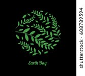 earth day concept. nature... | Shutterstock .eps vector #608789594