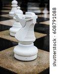 chessmen on the street | Shutterstock . vector #608791088