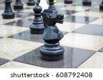 chessmen on the street | Shutterstock . vector #608792408