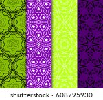 set of decorative line... | Shutterstock .eps vector #608795930