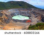 A Crater And Fumarole Of The...