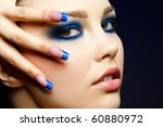close up portrait of beautiful... | Shutterstock . vector #60880972