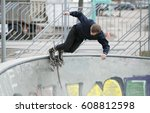 moscow   25 march 2017  young... | Shutterstock . vector #608812598