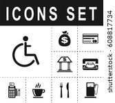 disabled sign icon   Shutterstock .eps vector #608817734
