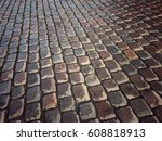 stone pavement. brick walkway | Shutterstock . vector #608818913