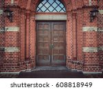 old church door | Shutterstock . vector #608818949