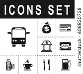 bus sign icon   Shutterstock .eps vector #608820728