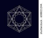 geometric element  symbol ... | Shutterstock .eps vector #608821244