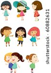 illustration of a girls on a... | Shutterstock .eps vector #60882631