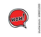 comic book speech bubble ...   Shutterstock .eps vector #608831000