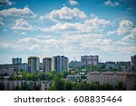 view of the buildings in the... | Shutterstock . vector #608835464
