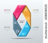 vector abstract 3d digital... | Shutterstock .eps vector #608838020