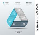 vector elements for infographic.... | Shutterstock .eps vector #608838038