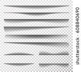 paper sheet shadow effect... | Shutterstock .eps vector #608840690
