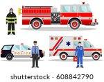 emergency concept. detailed... | Shutterstock .eps vector #608842790