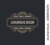calligraphic elegant ornament... | Shutterstock .eps vector #608843654
