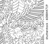 tracery seamless pattern.... | Shutterstock .eps vector #608844719