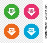 sale arrow tag icons. discount... | Shutterstock .eps vector #608845604