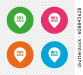 sale pointer tag icons.... | Shutterstock .eps vector #608845628