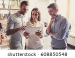 successful young business...   Shutterstock . vector #608850548