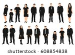 vector  isolated people  a... | Shutterstock .eps vector #608854838