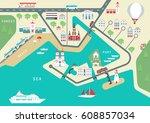 vector scheme of nonexistent... | Shutterstock .eps vector #608857034