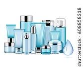 vector hydrating cosmetics | Shutterstock .eps vector #608858318