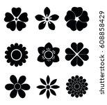 flower icons | Shutterstock .eps vector #608858429