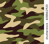 camouflage pattern background... | Shutterstock .eps vector #608862920