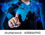 international business concept... | Shutterstock . vector #608866940