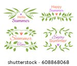 elegant floral decorative... | Shutterstock .eps vector #608868068