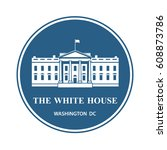 Stock vector white house building icon in washington dc vector illustration 608873786