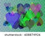 valentine texture elements   Shutterstock .eps vector #608874926