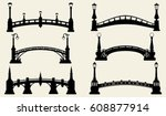 bridge silhouettes | Shutterstock .eps vector #608877914