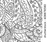 tracery seamless pattern.... | Shutterstock .eps vector #608878580