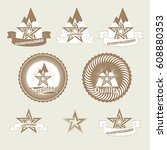 the trademark best choice with... | Shutterstock .eps vector #608880353