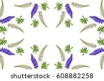 Lupines Beautiful Flowers On A...