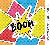 comic book speech bubble ...   Shutterstock .eps vector #608889878