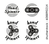 hand spinner emblems. vector... | Shutterstock .eps vector #608890214