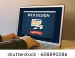 web design concept on laptop...