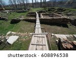 ruins of the ancient greek city ... | Shutterstock . vector #608896538
