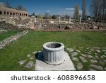 ruins of the ancient greek city ... | Shutterstock . vector #608896658