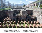ruins of the ancient greek city ... | Shutterstock . vector #608896784