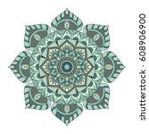 flower mandalas. vintage...   Shutterstock .eps vector #608906900