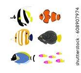 aquarium  | Shutterstock .eps vector #608907974