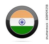 national flag of india. shiny... | Shutterstock .eps vector #608909258