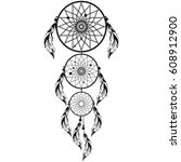 hand drawn native american...   Shutterstock .eps vector #608912900