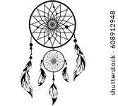 hand drawn native american...   Shutterstock .eps vector #608912948