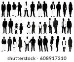 vector  isolated  silhouettes... | Shutterstock .eps vector #608917310